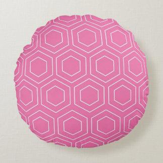 Octagon Geometric Pattern Round Pillow