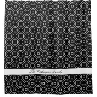 Octagon & Square Shapes Shower Curtain