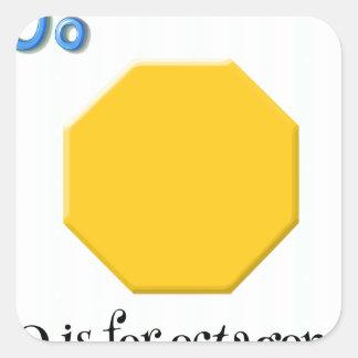 Octagon Square Sticker