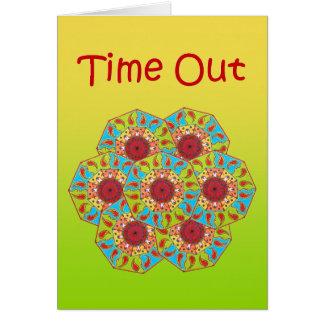 "Octagonal RGB Mandala ""Time Out"" Greeting Card"