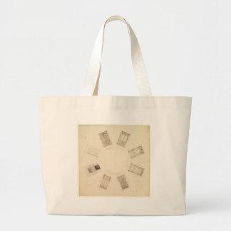 Octagonal Room Large Tote Bag