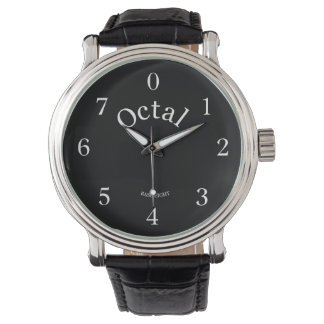 Octal watch live your life in base 8