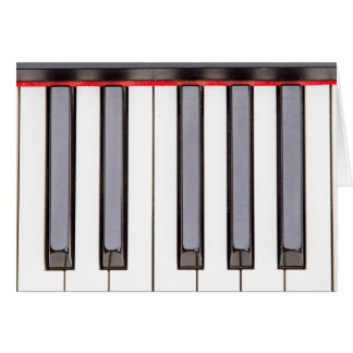 Octave Piano Blank Greeting Card