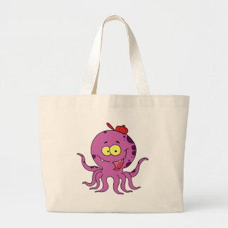 Octave the Octopus Tote Bags