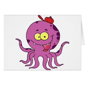Octave the Octopus Greeting Card