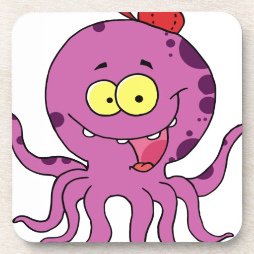 Octave the Octopus Drink Coaster