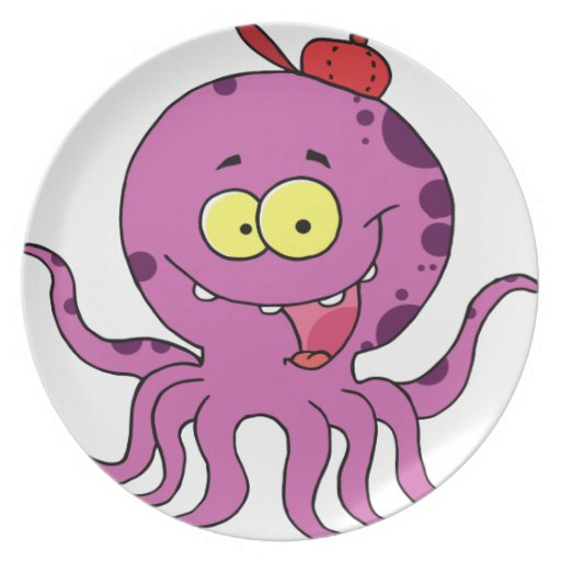 Octave the Octopus Dinner Plates