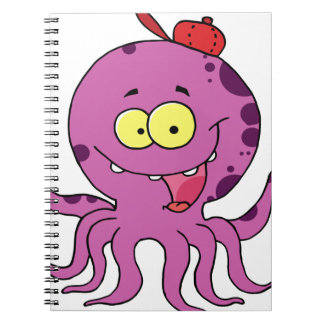 Octave the Octopus Spiral Note Book