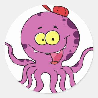 Octave the Octopus Round Sticker