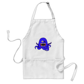 Octo-Monster in blue Standard Apron