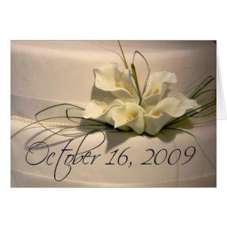 October 16 2009 wedding card