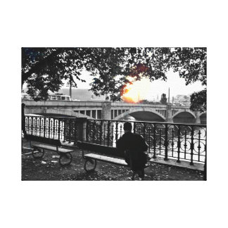 October afternoon by the Vltava Canvas Print