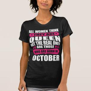 October Birthday Woman T Shirt
