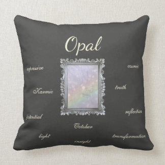 October Birthstone Opal Fairy Throw Pillow