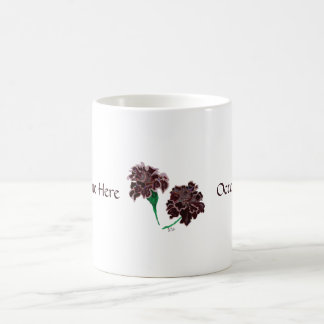 October: Black Opal Marigolds Personalized mug