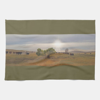 October Drive Cattle Kitchen Towel