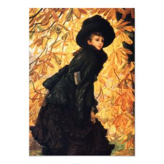 October Fine Art 13 Cm X 18 Cm Invitation Card