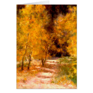 October Golden Trees Artistic Blank Greeting Card