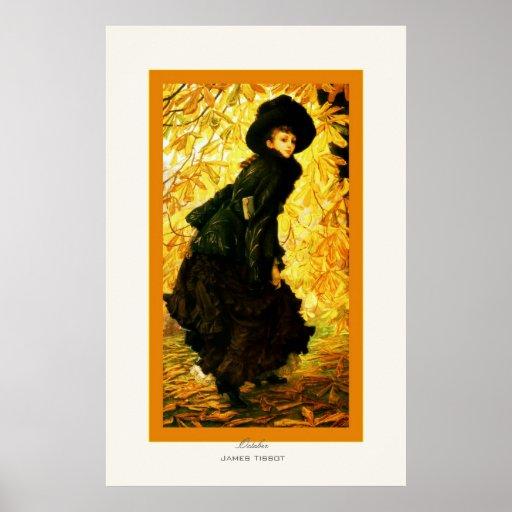 October ~ James Tissot ~ Fine Art Posters