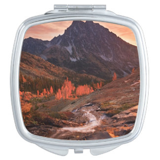 October Light on Headlight Basin Mirrors For Makeup
