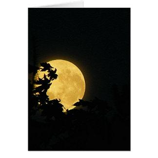 October Moon Card