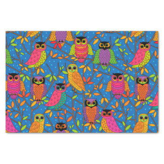 October Owls Tissue Paper
