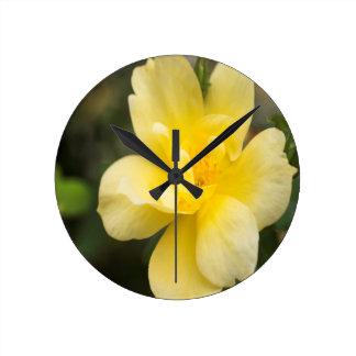 October Rose Round Clock