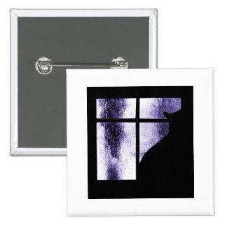 October Showers Cat Silhouette At Window Indigo Pin