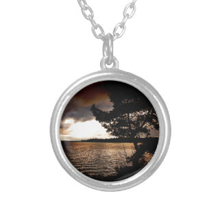 October Waterfront Silver Plated Necklace
