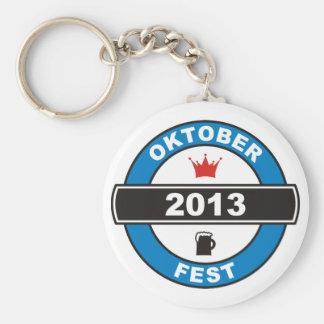 Octoberfest 2013 basic round button key ring