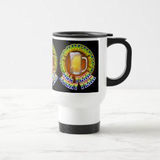 Octoberfest Beer Drinking Mug. Stainless Steel Travel Mug