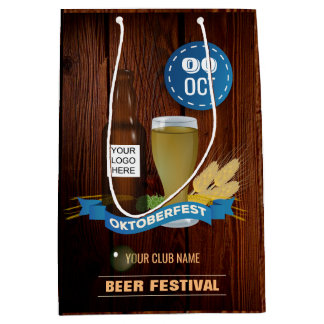 Octoberfest Club/Pub/Company add logo Medium Gift Bag