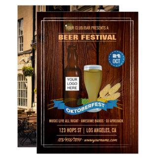 Octoberfest Club/Pub/Company add photo and logo Card