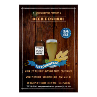 Octoberfest Club/Pub/Company personalized add logo Poster