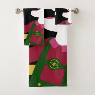 Octoberfest / German Drinker custom name towel set