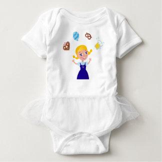 Octoberfest girl : blue costume baby bodysuit