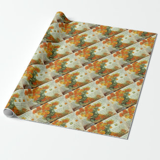 October's Child Birthday Wishes Wrapping Paper