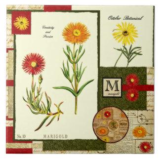 October's Flower Tile