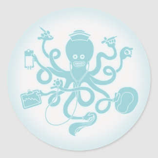 Octonurse Round Sticker