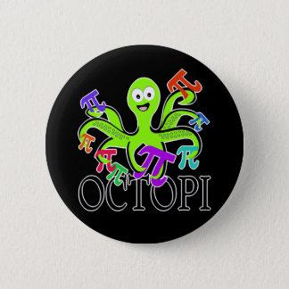 octopi 6 cm round badge