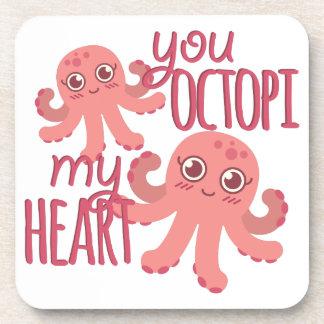 Octopi My Heart Coaster