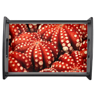 """Octopi Rouge"" Wooden Serving Tray"