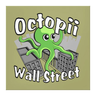 Octopii Wall Street - Occupy Wall St Canvas Print