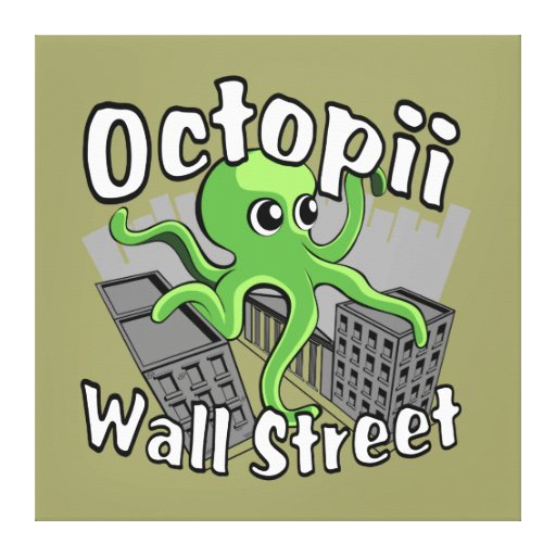 Octopii Wall Street - Occupy Wall St! Canvas Print