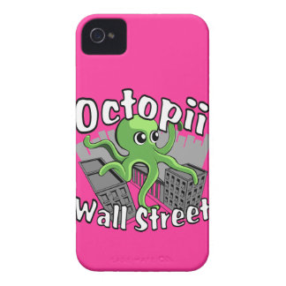 Octopii Wall Street - Occupy Wall St! Case-Mate iPhone 4 Cases