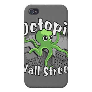 Octopii Wall Street - Occupy Wall St iPhone 4/4S Covers