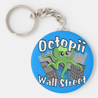 Octopii Wall Street - Occupy Wall St! Keychain