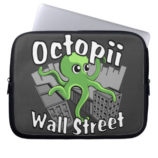 Octopii Wall Street - Occupy Wall St Laptop Sleeve