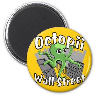 Octopii Wall Street - Occupy Wall St Magnets