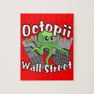 Octopii Wall Street - Occupy Wall St! Jigsaw Puzzle